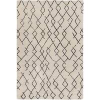 Hand-Knotted Canalasso Wool/Cotton Area Rug - 4' x 6'