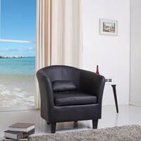 Denton Black Club Chair