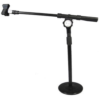 Podium Pro Tabletop Boom Microphone Stand Mic Clamp Clip Adjustable DJ Drum Stand MS4MC1