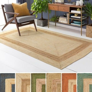 Hand-Woven Canada Jute Area Rug - 4' x 6'