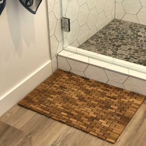 Teak Indoor/ Outdoor Bath and Shower Mat - 19.5 x 27.5