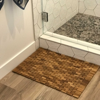 Foldable Teak Indoor/ Outdoor Bath and Shower Mat
