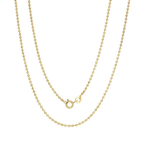 Sterling Essentials 14k Gold Over Silver Palline Chain (1.8mm) - Yellow