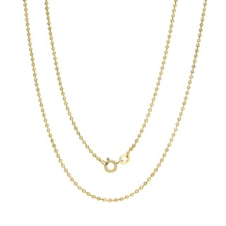 Sterling Essentials 14k Gold Over Silver Palline Chain (1.8mm)
