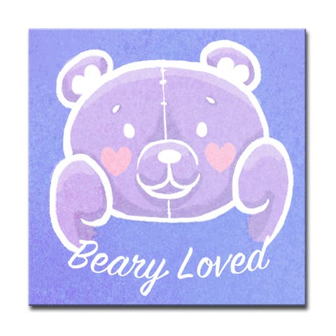 Beary Loved' Valentine's Wrapped Canvas Wall Art