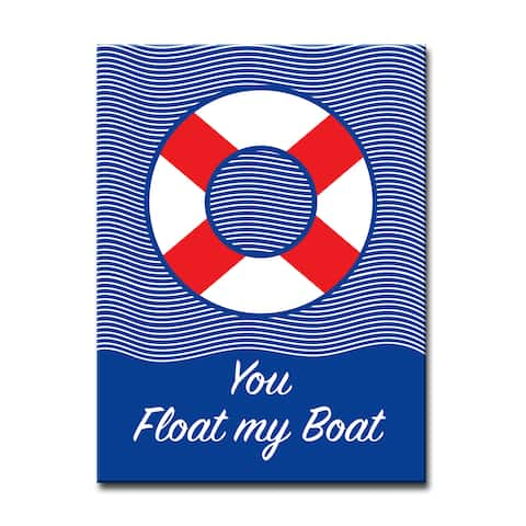 You Float my Boat' Romantic Wrapped Canvas Wall Art
