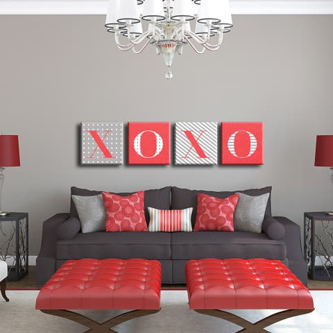 XoXo' Valentine's Wrapped Canvas Wall Art