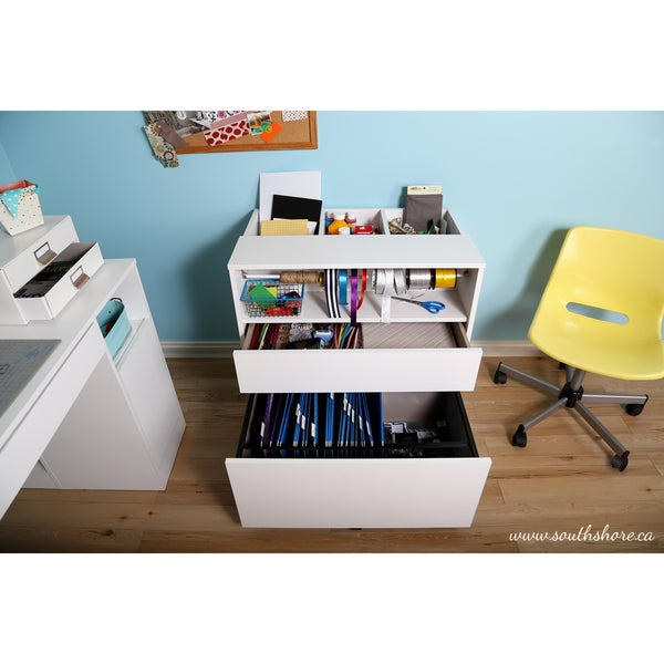 South Shore Crea Craft And Hobby Wheeled Storage Cabinet