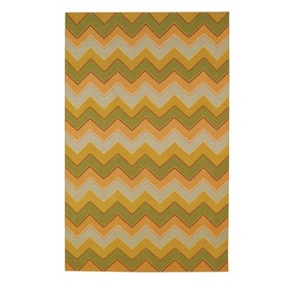 "Williamsburg Irish Stitch Rectangle Flat Woven Rugs (5' x 8' 6"")"