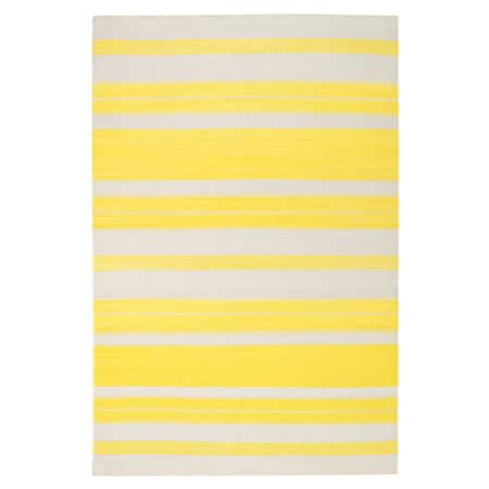 Genevieve Gorder Jagges Stripe Rectangle Flat Woven Rugs (7' x 9') - 7' x 9'