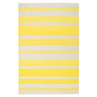 Genevieve Gorder Jagges Stripe Rectangle Flat Woven Rugs (7' x 9')