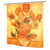 Vincent van Gogh's 'Sunflowers' Fabric Shower Curtain