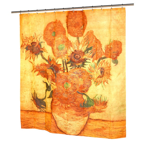 Vincent van Gogh's 'Sunflowers' Fabric Shower Curtain