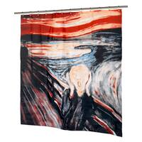 The Scream Fabric Shower Curtain