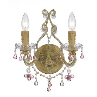 Crystorama Paris Market Collection 2-light Champagne Wall Sconce