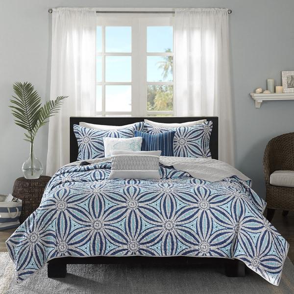 Madison Park Paros Blue 6-piece Coverlet Set