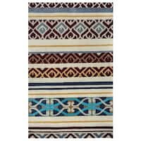 Rizzy Home Pandora Collection Multicolored Abstract Accent Rug - 2' x 3'