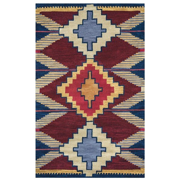 Rizzy Home Southwest Collection Multicolored SU9010 Accent Rug - 2' x 3'