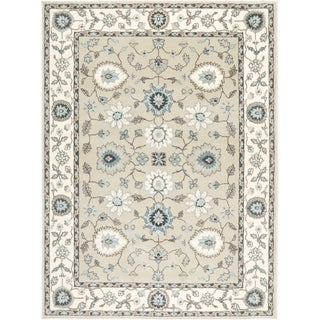 Home Dynamix Oxford Collection Beige/Cream Transitional Machine Made Polypropylene Area Rug - 5'2 x 7'2