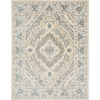 Home Dynamix Oxford Collection Beige/Cream Ornamental Machine Made Polypropylene Area Rug - 5'2 x 7'2