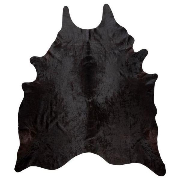 Andes Black Cowhide Rug - 4'5 x 6'5