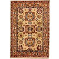 Herat Oriental Indo Hand-knotted Tribal Kazak Wool Rug (4' x 6') - 4' x 6'