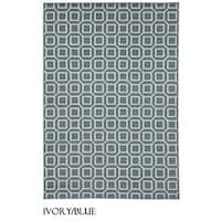 "Rizzy Home Glendale Collection Power-loomed Geometric Accent Rug - 2'3"" x 4'"