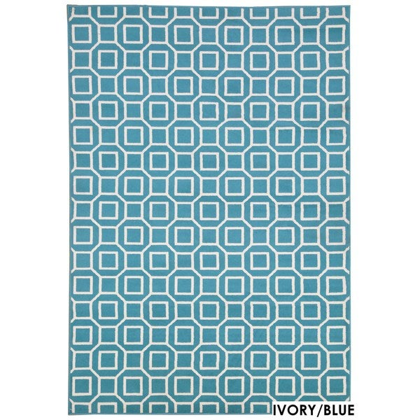 """Rizzy Home Glendale Collection Power-loomed Geometric Accent Rug (2'3 x 4') - 2'3"""" x 4'"""