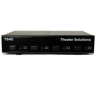 Theater Solutions TS4D Home Audio Speaker Selector Box Dual Source to Four Pair Switcher