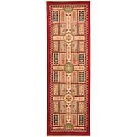 Handmade Herat Oriental Indo Tribal Kazak Wool Runner (India) - 2'6 x 8'