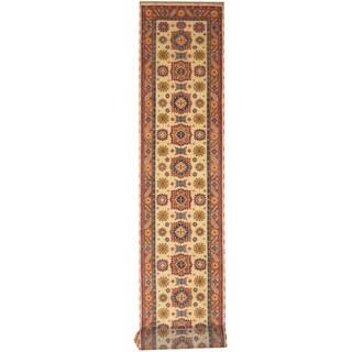 Handmade Herat Oriental Indo Tribal Kazak Wool Runner (India) - 2'6 x 20'10
