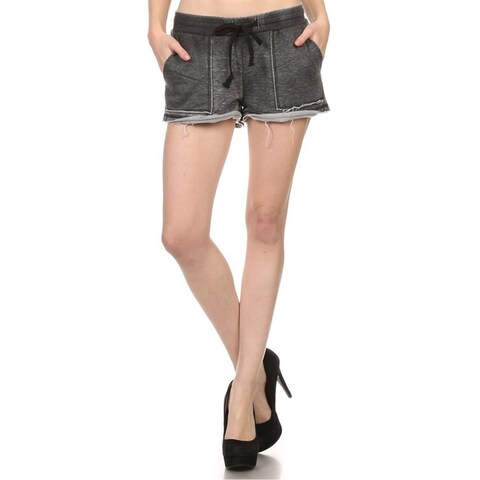 MOA Collection Women's Heather Knit Track Shorts