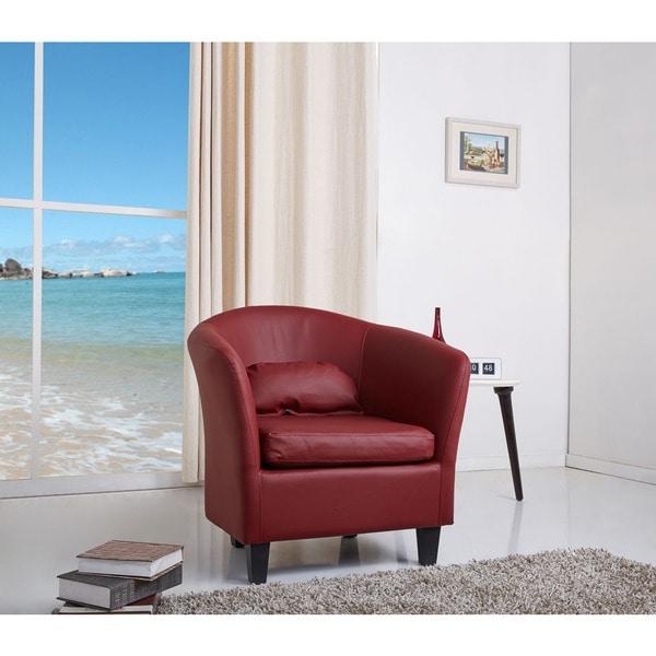 Denton Wine Red Club Chair