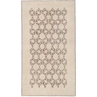 Herat Oriental Afghan Hand-knotted Vegetable Dye Khotan Wool Rug (5'9 x 10'4)