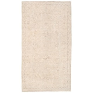 Herat Oriental Afghan Hand-knotted Whitewashed Vegetable Dye Khotan Wool Rug (5'4 x 9'1)