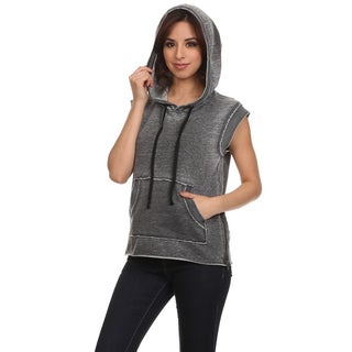 MOA Collection Women's Sleeveless Pull-over Hoodie