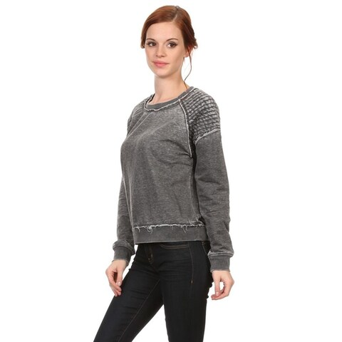 MOA Collection Women's Mineral Wash Pull-over