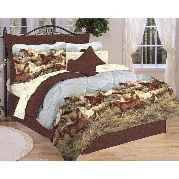Thunder Run Horse-themed Bed in a Bag Comforter Set
