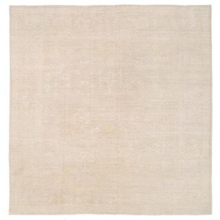 Herat Oriental Afghan Hand-knotted Whitewashed Vegetable Dye Oushak Wool Rug (8' x 8')
