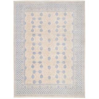 Herat Oriental Afghan Hand-knotted Vegetable Dye Khotan Wool Rug (8'8 x 11'6)
