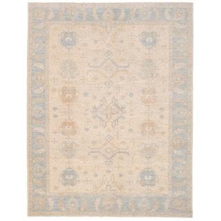 Herat Oriental Afghan Hand-knotted Vegetable Dye Khotan Wool Rug (9'2 x 11'10)