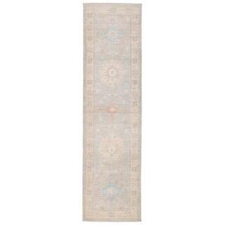 Herat Oriental Afghan Hand-knotted Vegetable Dye Khotan Wool Runner (2'8 x 10'2)