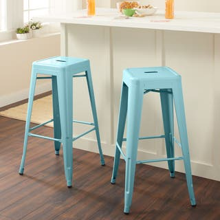 Shop Tabouret 30 Inch Peacock Bar Stools Set Of 2 Free