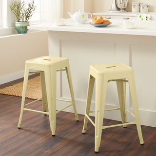 Tabouret 24-inch Canary Counter Stool (Set of 2)