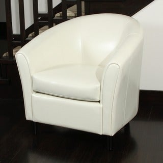 Christopher Knight Home Preston Bonded Leather Ivory Club Chair (As Is Item)