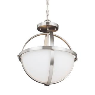 Sea Gull Alturas 2 Light Brushed Nickel Semi-Flush Convertible Pendant