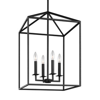 Sea Gull Perryton 4 Light Blacksmith Hall Foyer Fixture