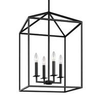 Sea Gull Perryton Blacksmith Steel 4-light Hall Foyer Fixture