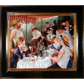 Pierre-Auguste Renoir 'Luncheon of the Boating Party' Hand-painted Framed Canvas Art