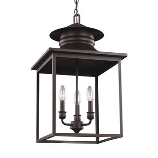Sea Gull Huntsville 3-Light Heirloom Bronze Hall Foyer Fixture
